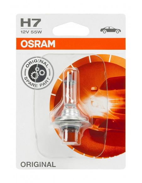 LAMPARA OSRAM H7 12V 55W PX26D (RECAMBIO ORIGINAL, MOTOS)