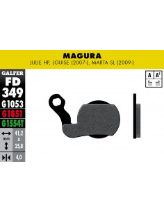 JUEGO PASTILLAS GALFER BICI FD349G1053