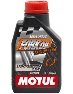BOTELLA MOTUL FORK OIL FACTORY LINE MED/LIGHT 7,5W 1L