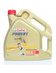LATA CASTROL POWER 1 4T 15W-50 4X4L
