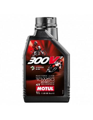 BOTELLA MOTUL 300V2 4T FACTORY LINE 10W50 12X1L