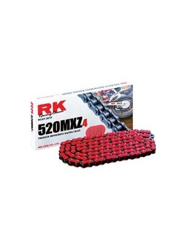 CADENA RK NR 520 MXZ4 120P ROJA